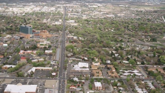 aerial view of western colorado city - colorado stock videos & royalty-free footage