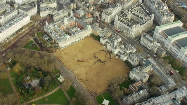 Aerial view of Whitehall and Horse Guards Parade