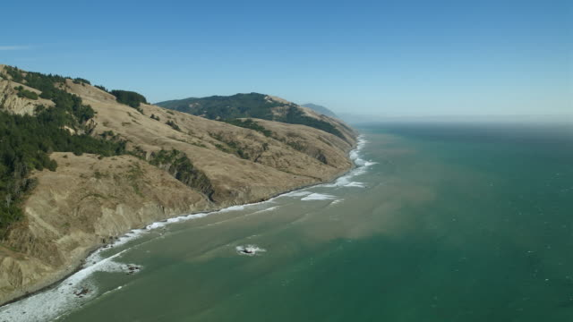 aerial view of wilderness area on california's lost coast. - wilderness area stock videos & royalty-free footage