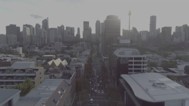 aerial view of william street. sydney australia - twilight stock videos & royalty-free footage
