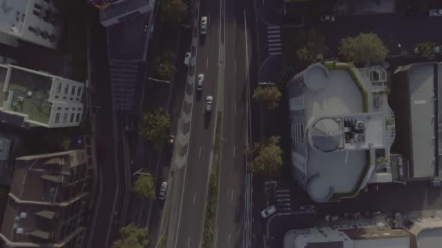 aerial view of william street. sydney australia - overhead view stock videos & royalty-free footage
