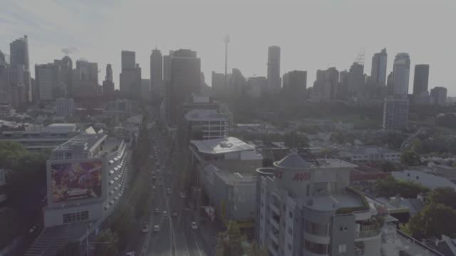 Aerial view of William Street. Sydney Australia