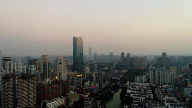 Aerial view of wuxi center