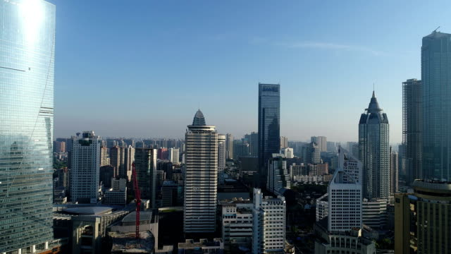 aerial view of wuxi center - wuxi stock videos and b-roll footage