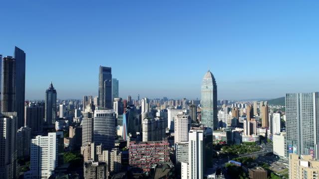 vídeos y material grabado en eventos de stock de aerial view of wuxi city in the early morning - rascacielos