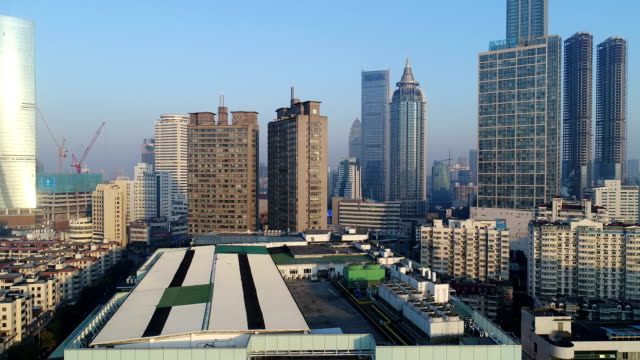 Aerial view of wuxi city