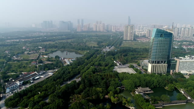 aerial view of wuxi liyuan scenic area - classical chinese garden stock videos & royalty-free footage