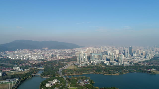 Aerial view of wuxi taihu scenic area
