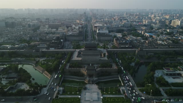 Aerial View of Xi'an Cityscape
