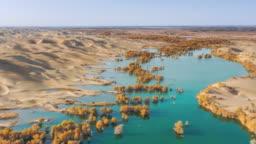 Aerial View Of Xinjiang