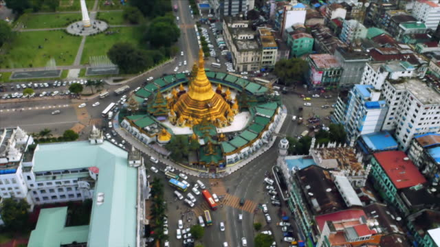 Aerial view of Yangon (cityscape)