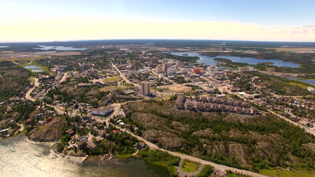 Aerial view of Yellowknife, Canada