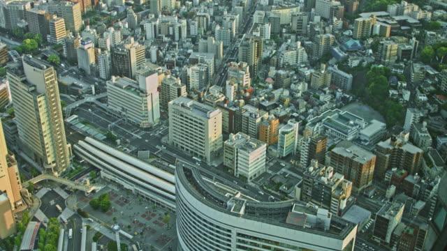 aerial view of yokohama, japan - yokohama stock videos and b-roll footage
