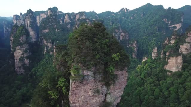 aerial view of zhangjiajie national park - high up stock videos & royalty-free footage