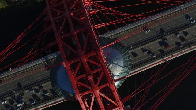 vidéos et rushes de aerial view of zhivopisny bridge - 30 secondes et plus
