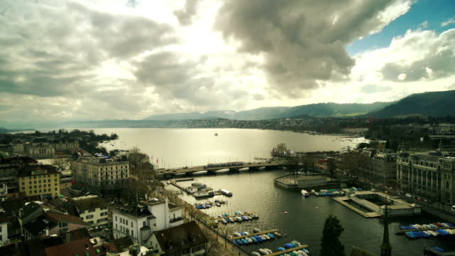 Aerial view of Zurich Lake