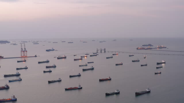 aerial view oil tanker cargo ship - petrol tank stock videos and b-roll footage