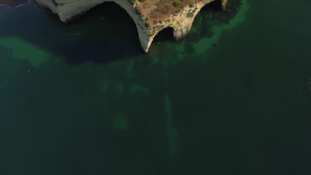 Aerial view on Benagil Cave Beach in Algarve - Portugal