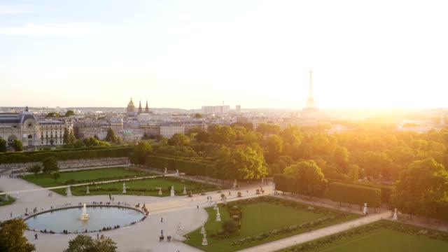 Aerial view on Eiffel Tower in Paris