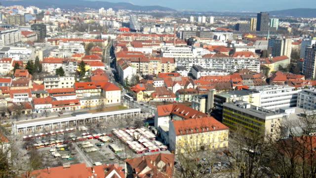 Luftaufnahme auf Ljubljana