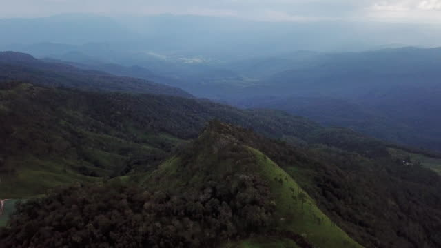 aerial view on the top of mountain - sri lanka stock videos & royalty-free footage