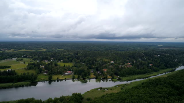 Flygfoto över en sjö