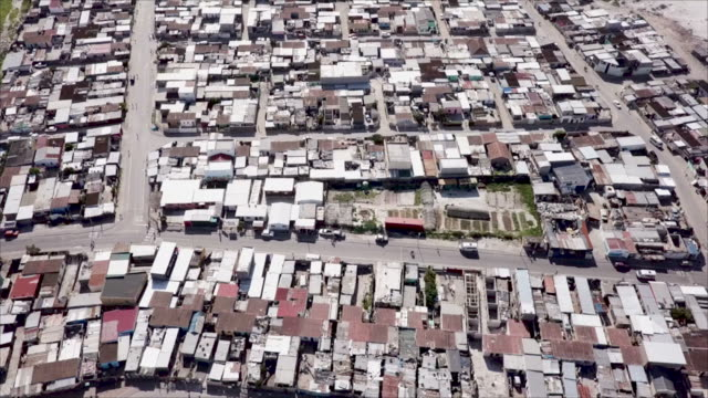 aerial view over a township in south africa - cape town stock videos & royalty-free footage