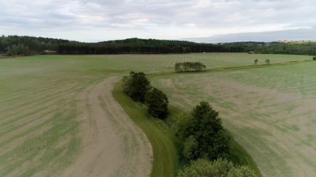 Flygfoto över åkrar