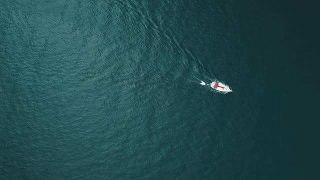 Luftaufnahme über Boote auf Mallorca