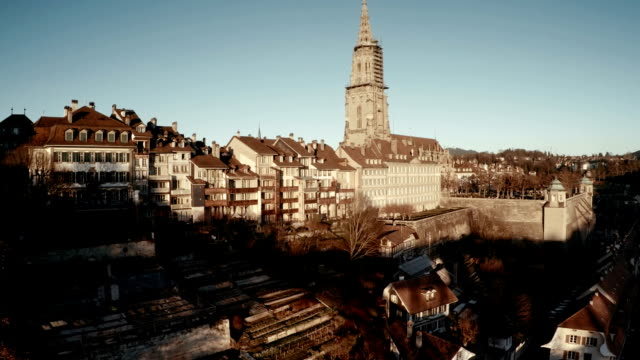 Aerial View over Center of Bern