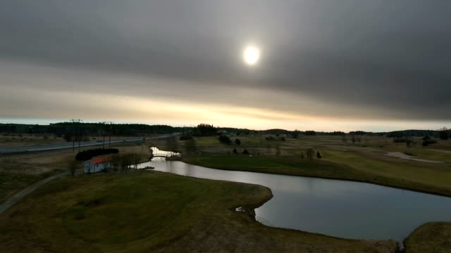 Aerial View over Golf Course
