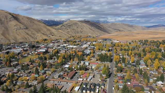 aerial view over jackson hole wyoming looking towards the grand tetons - grand teton national park stock videos & royalty-free footage