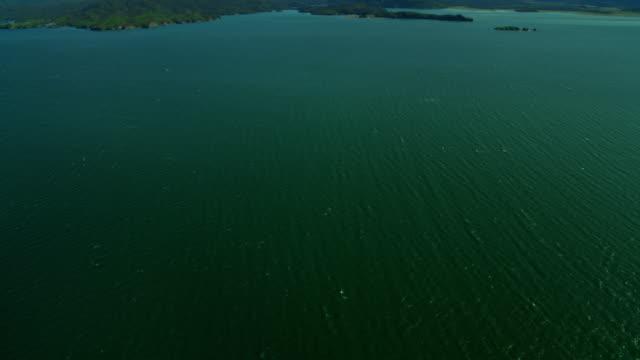 vídeos de stock e filmes b-roll de aerial view over kachemak bay alaska usa - eco tourism