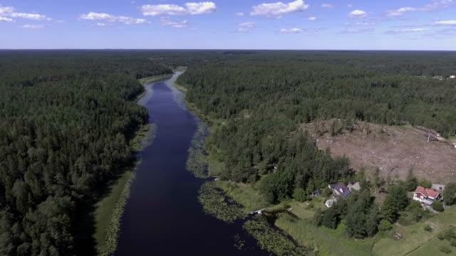 Flygfoto över sjön