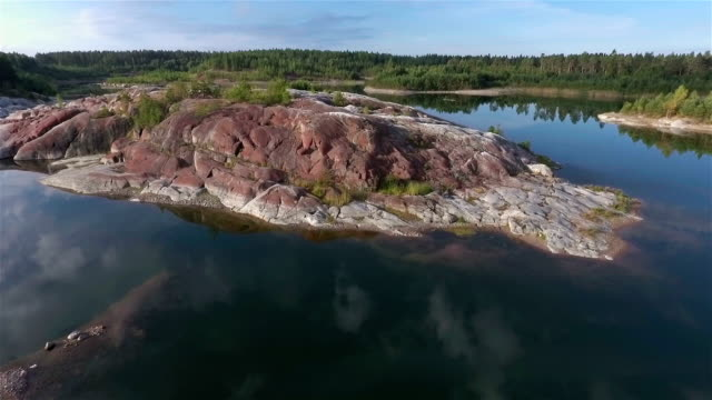 aerial view over lake - quarry stock videos and b-roll footage