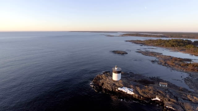 Aerial View over Lighthouse