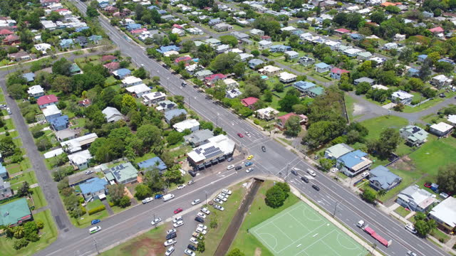 aerial view over lismore, nsw, australia - new south wales stock videos & royalty-free footage
