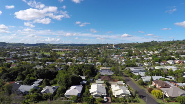 Aerial View over Lismore NSW, Australia