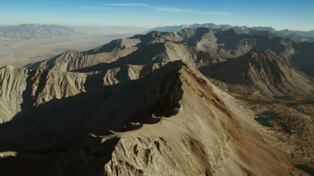 aerial view over mount perkins - californian sierra nevada stock videos and b-roll footage
