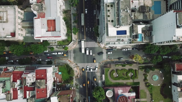 aerial view over recoleta district in buenos aires - buenos aires stock videos & royalty-free footage