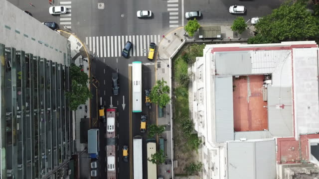 aerial view over recoleta district in buenos aires - public transport stock videos & royalty-free footage