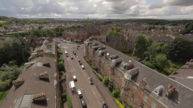 aerial view over residential houses in the uk - directly above stock videos & royalty-free footage
