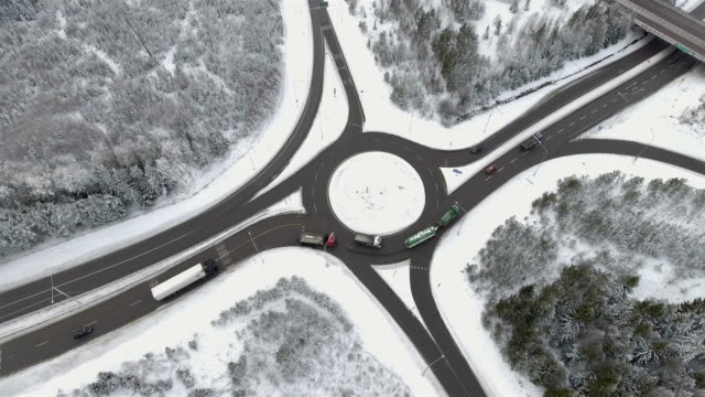 Aerial View over Roundabout