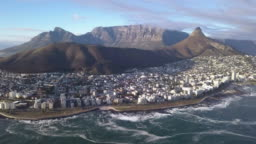 Aerial view over Sea Point, Cape Town, South Africa