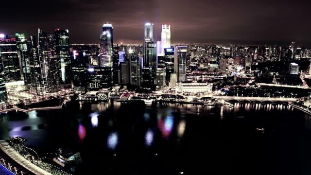 Veduta aerea di Marina Bay di Singapore