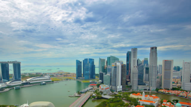 Luftaufnahme über Singapur