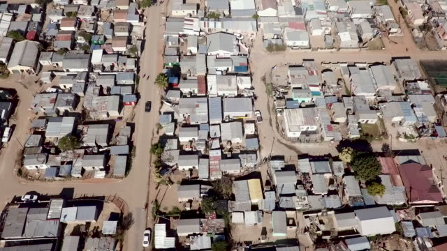 aerial view over south african township - western cape province stock videos & royalty-free footage