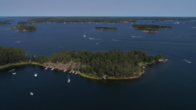 flygfoto över stockholms skärgård - remus kotsell bildbanksvideor och videomaterial från bakom kulisserna