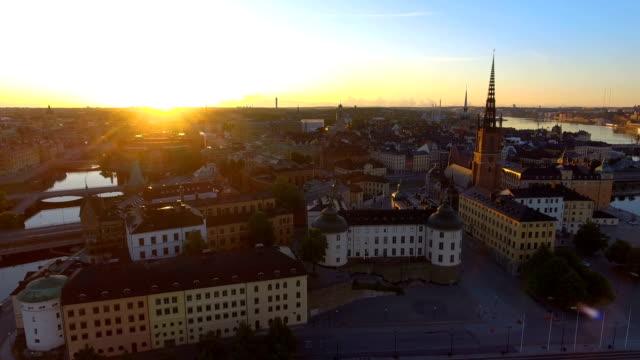 Flygfoto över Stockholm Riddarholmen