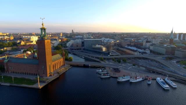 Flygfoto över Stockholms stadshus